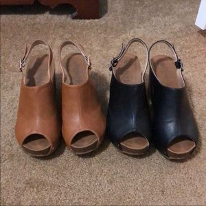 Two pairs of wedges.